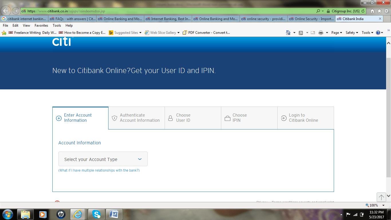 citibank online bank login