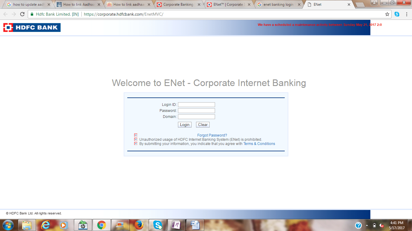 HDFC Corporate banking