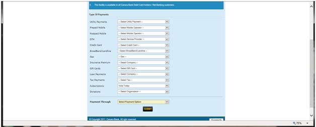 Canara Bank Online Banking