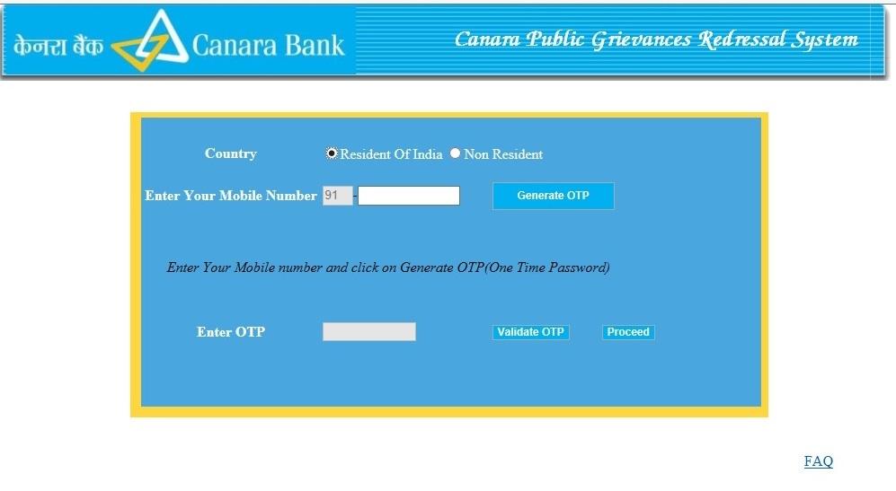 Canara Bank Online Banking Customer Care