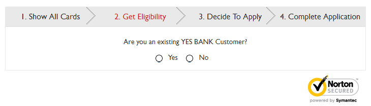 YES bank Credit card Registration