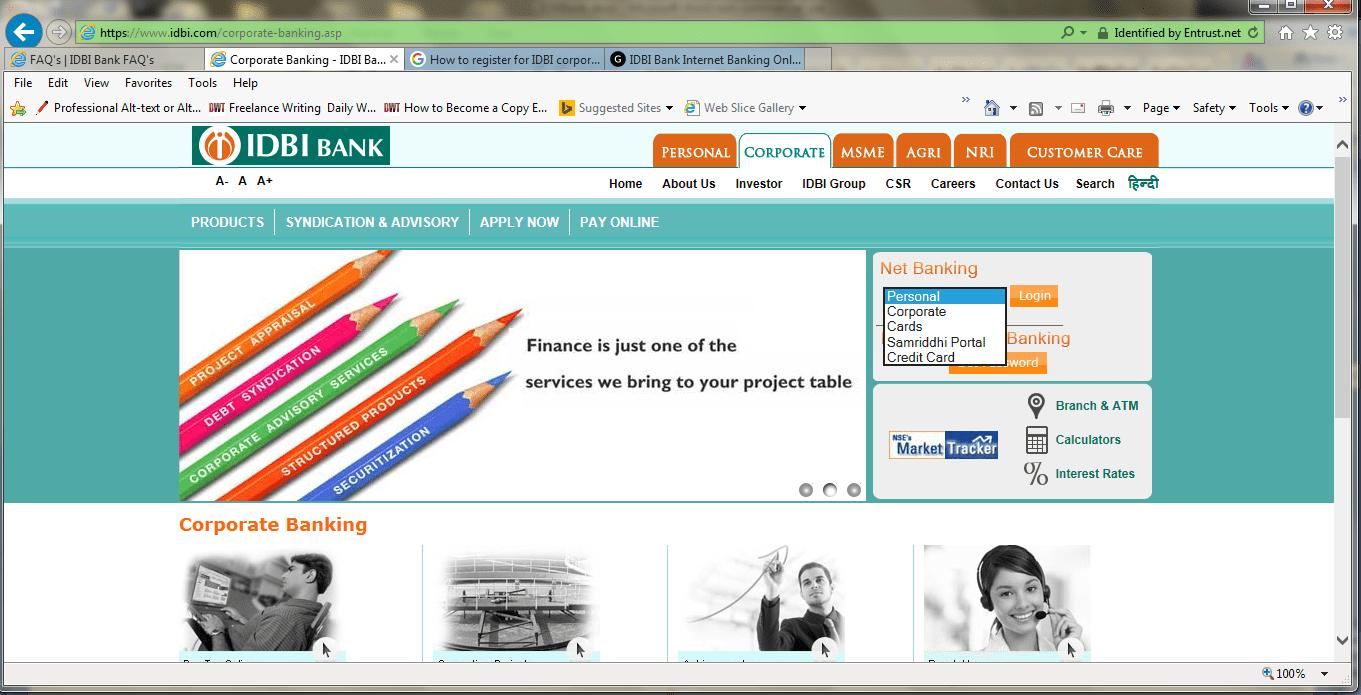 IDBI corporate banking