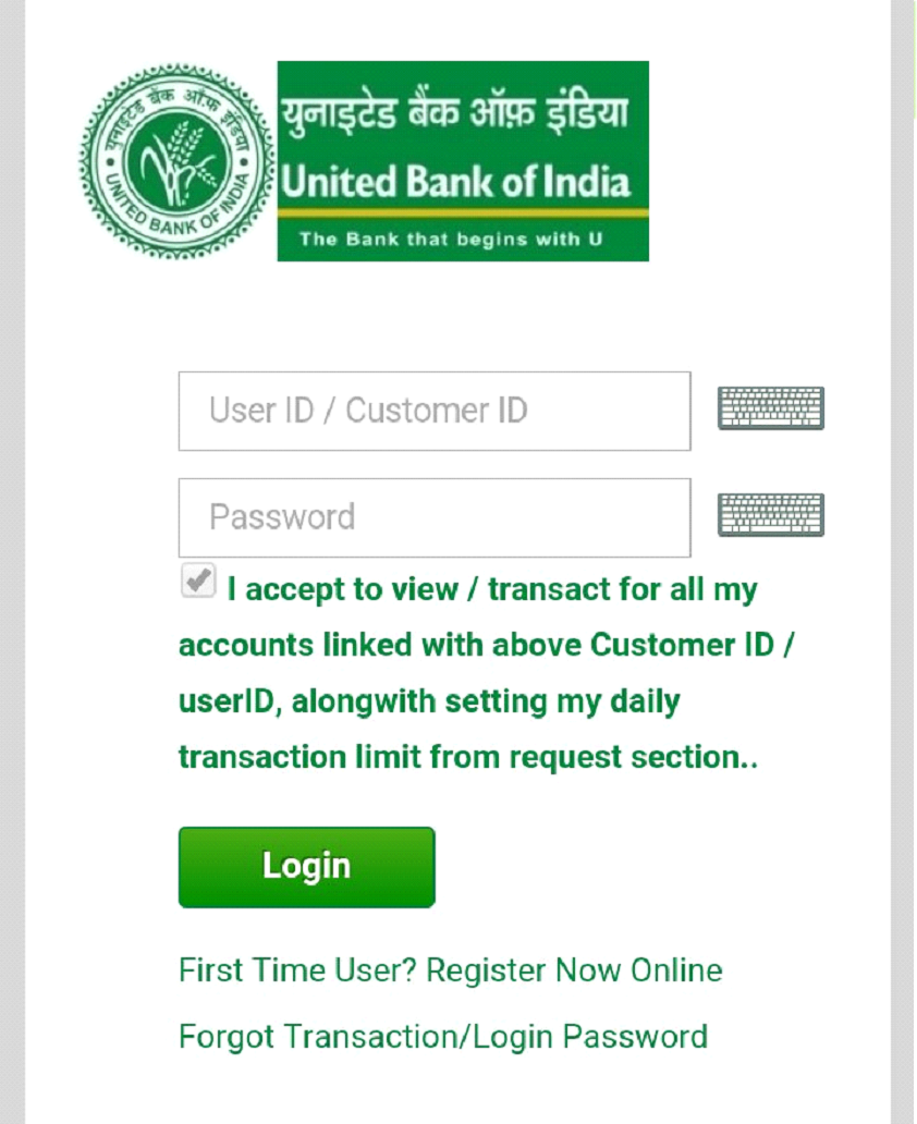 login into United Bank of India