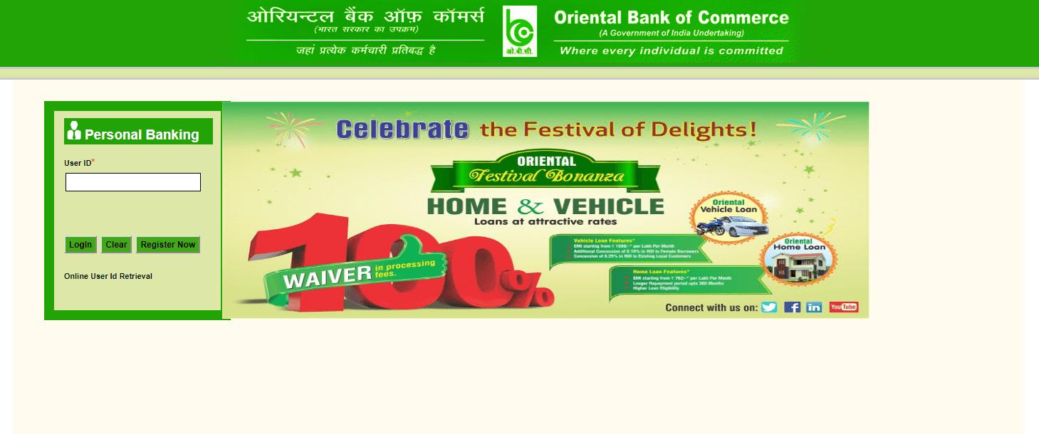 oriental bank online registration
