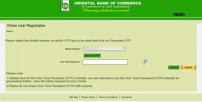 oriental bank net banking